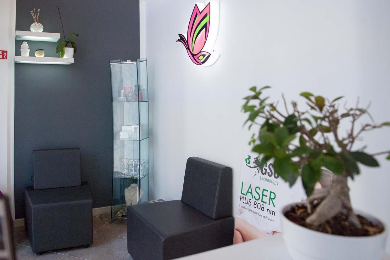 Sala attesa centro estetico