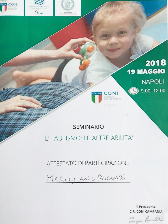 Seminario - attestato di partecipazione Autismo