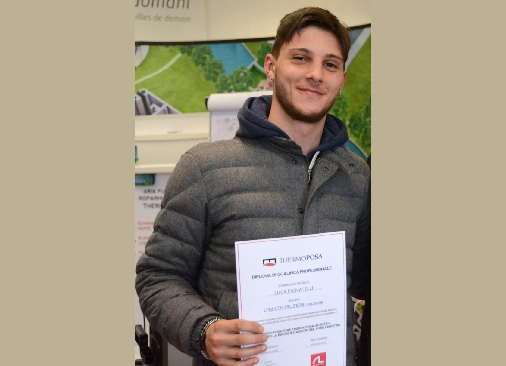Diploma di posatore qualificato Thermoposa LFM Costruzioni