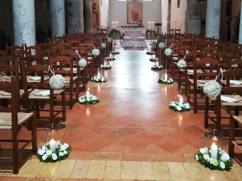 Addobbo matrimonio chiesa Clorophilla