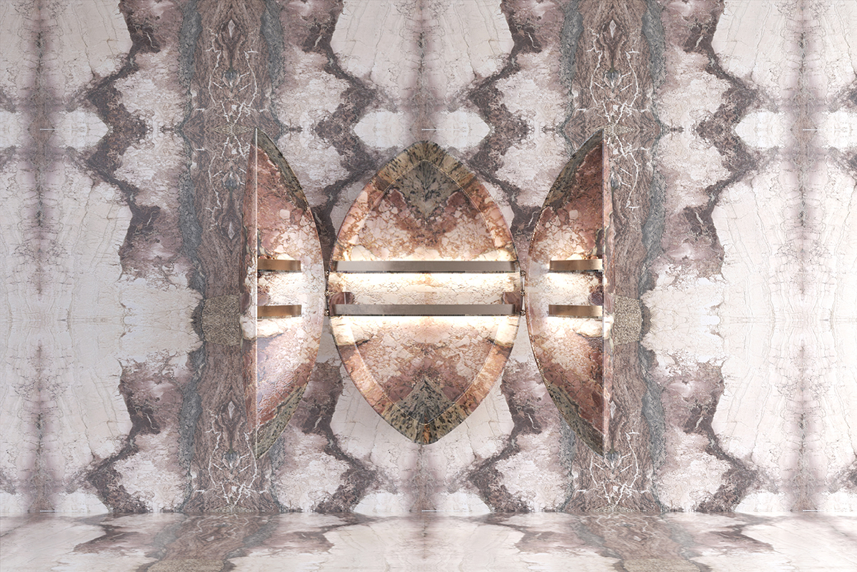 Cabinet UNIQUE, curvatura del marmo