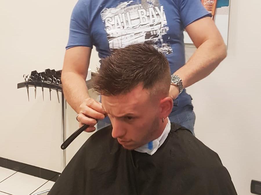Taglio e asciugatura uomo Marcello Frontera Hairstylist