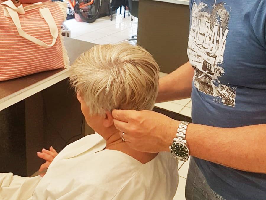 Taglio donna e schiaritura capelli Marcello Frontera Hairstylist