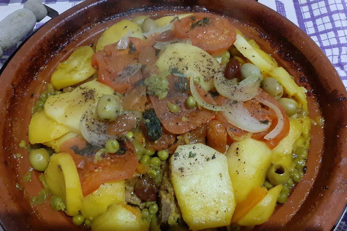 piatti della cucina marocchina ed egiziana Bar shisha Nura Iskendreia