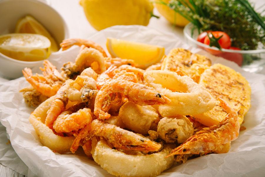 fritto di pesce da asporto ts