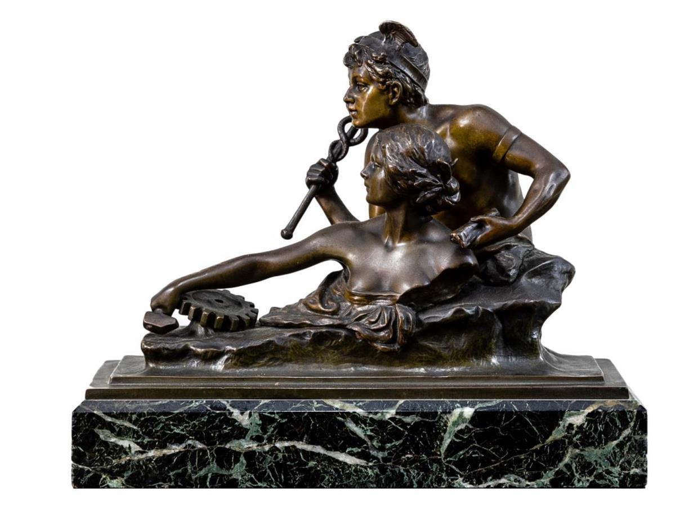 Scultura Cronos, bronzo, Francia, ultimo quarto dell'Ottocento