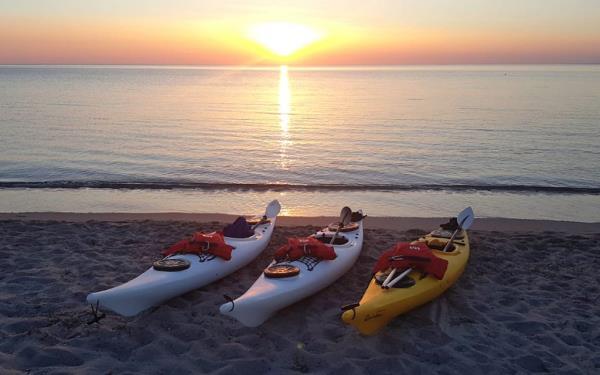 Ajò Kayaking, Kayak al tramonto