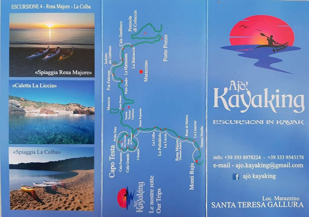 Mappa plastificata Ajò Kayaking