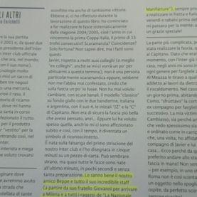 Citazione libro Javier Zanetti La Nazionale Manifatture