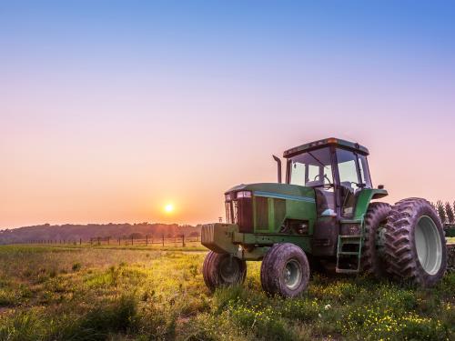 Pulizia campi con  trattore Impresa Edile Vertullo Daniele