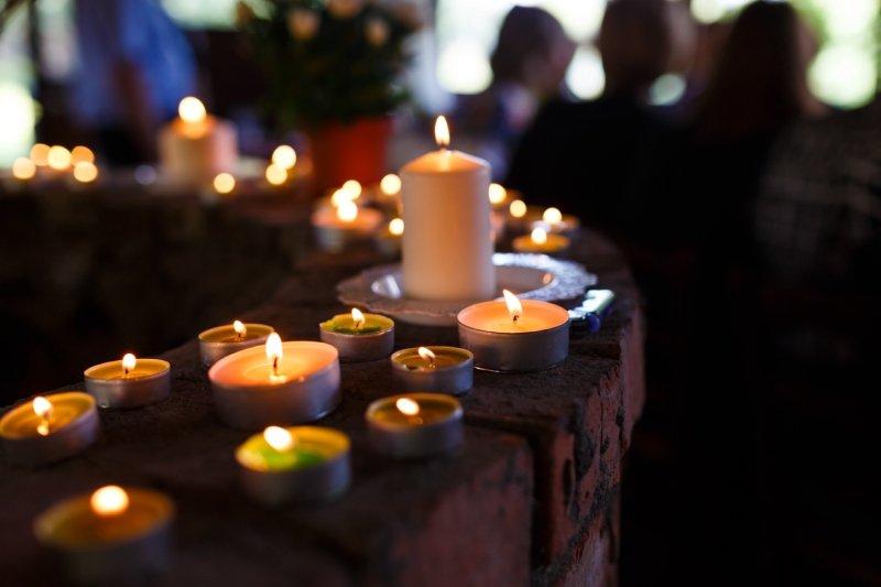 Allestimento per veglia funebre Onoranze Funebri Verucchi