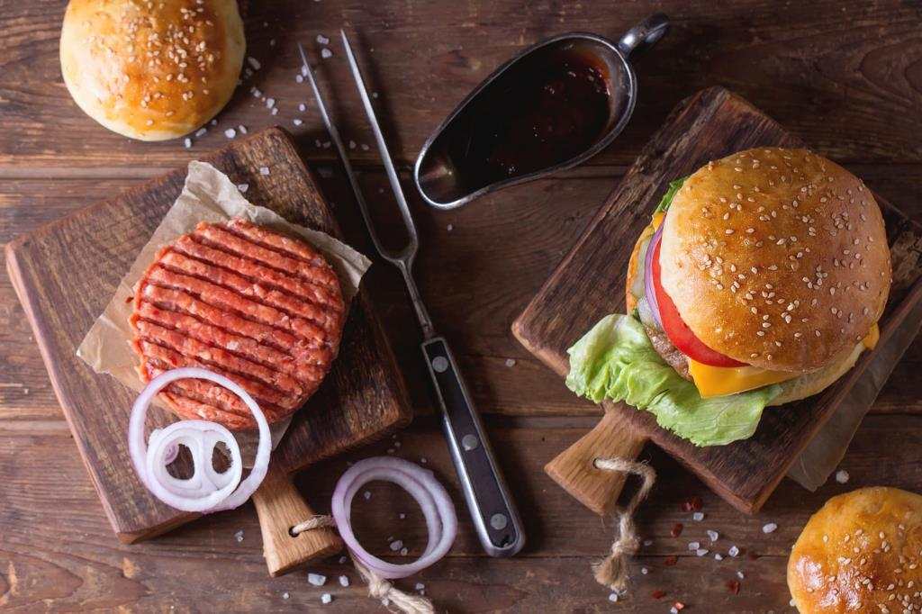 Hamburger di carne Sama's Burger