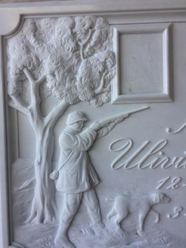 Lapide intarsiata lavorazione del marmo a Pietrasanta Lucca