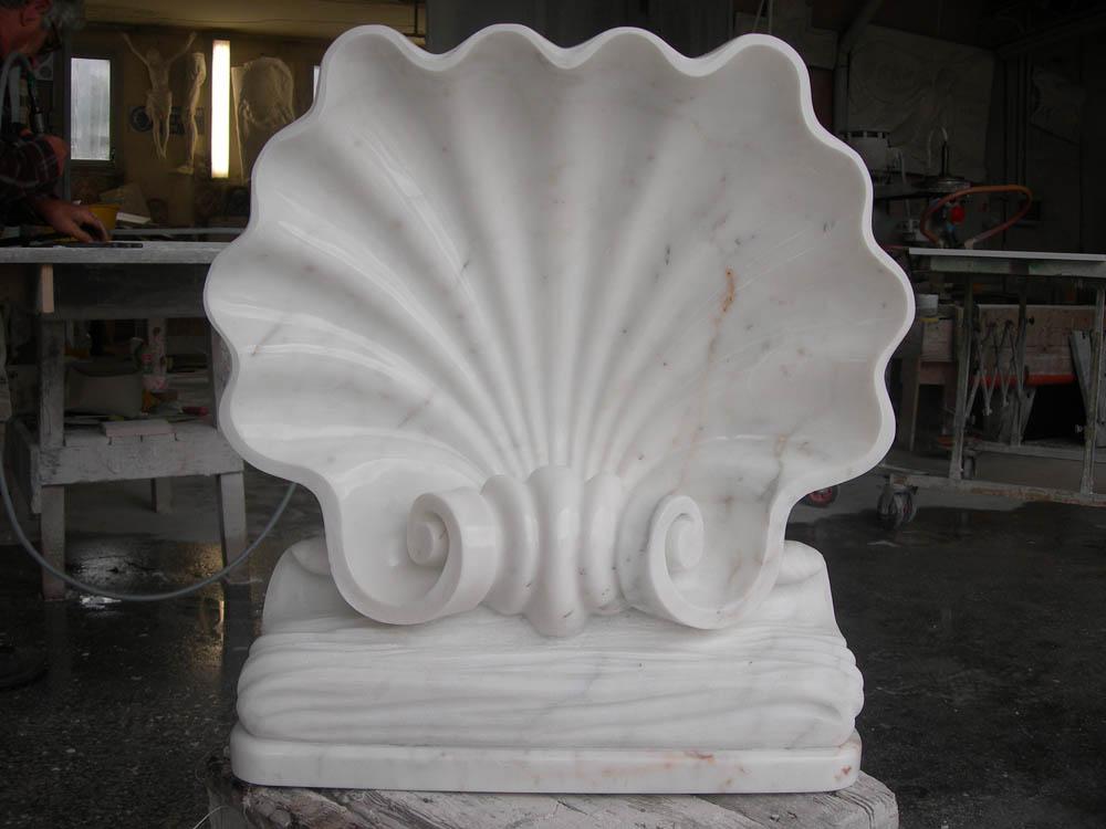 Conchiglia marmorea lavorazione del marmo a Pietrasanta Lucca