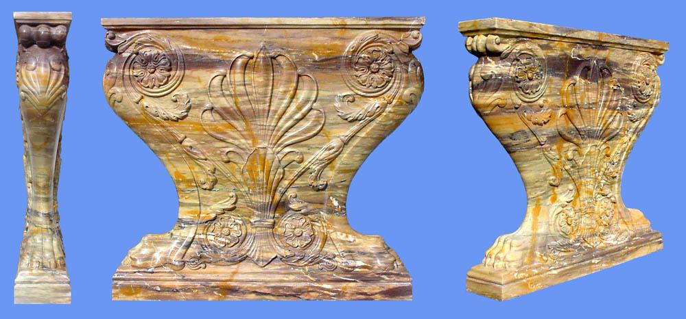 Capitelli intarsiati Opere architettura marmo Pietrasanta Lucca