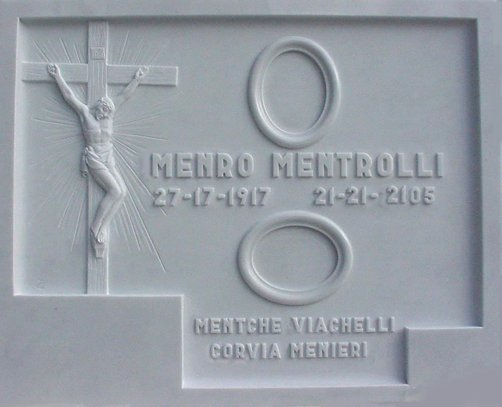 Lapide con crocifisso opere arte funeraria Pietrasanta Lucca