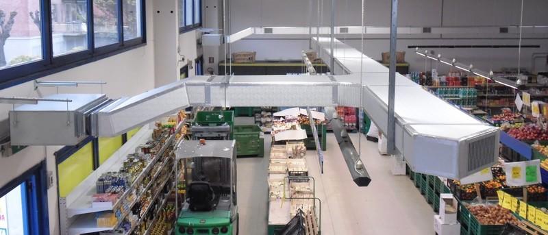 Condizionamento supermercato Installazione impianti trattamento aria VG Impianti Srl