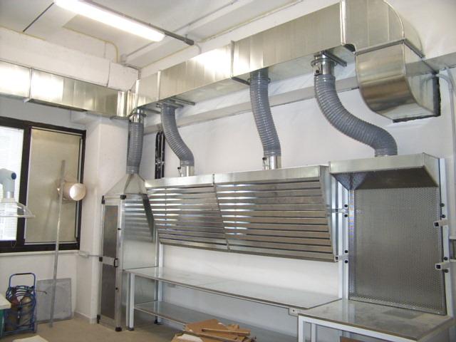 Condutture aria acciaio inox Impianti di aspirazione Aria Zola Predosa Bologna