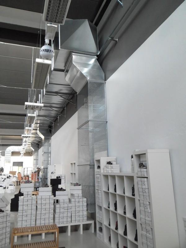 Condutture acciaio magazzino Impianti di aspirazione Aria Zola Predosa Bologna