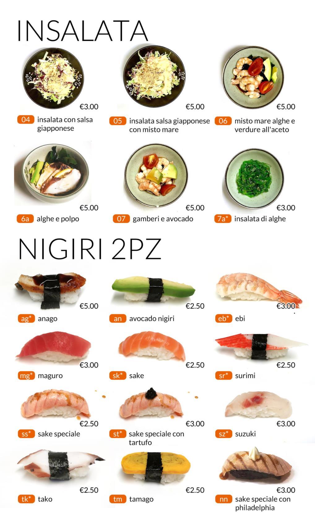 Insalata e nigiri All you can eat Città di Castello Perugia Zen Sushi & Asian Cuisine