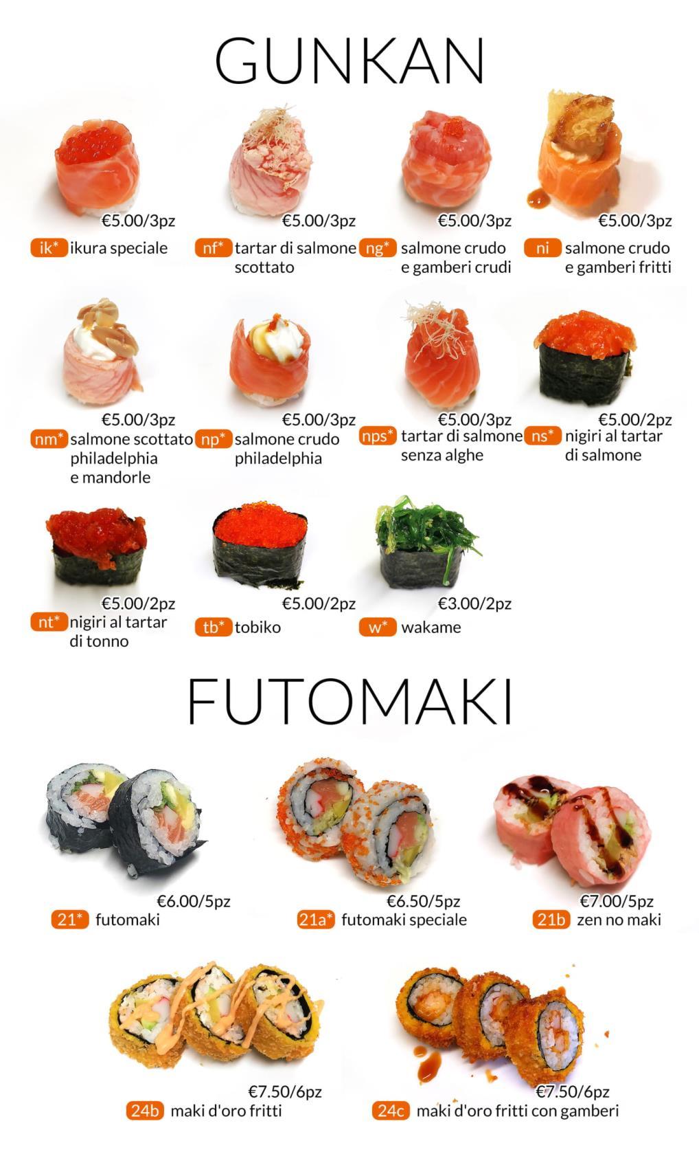 Gunkan e Futomaki All you can eat Città di Castello Perugia Zen Sushi & Asian Cuisine
