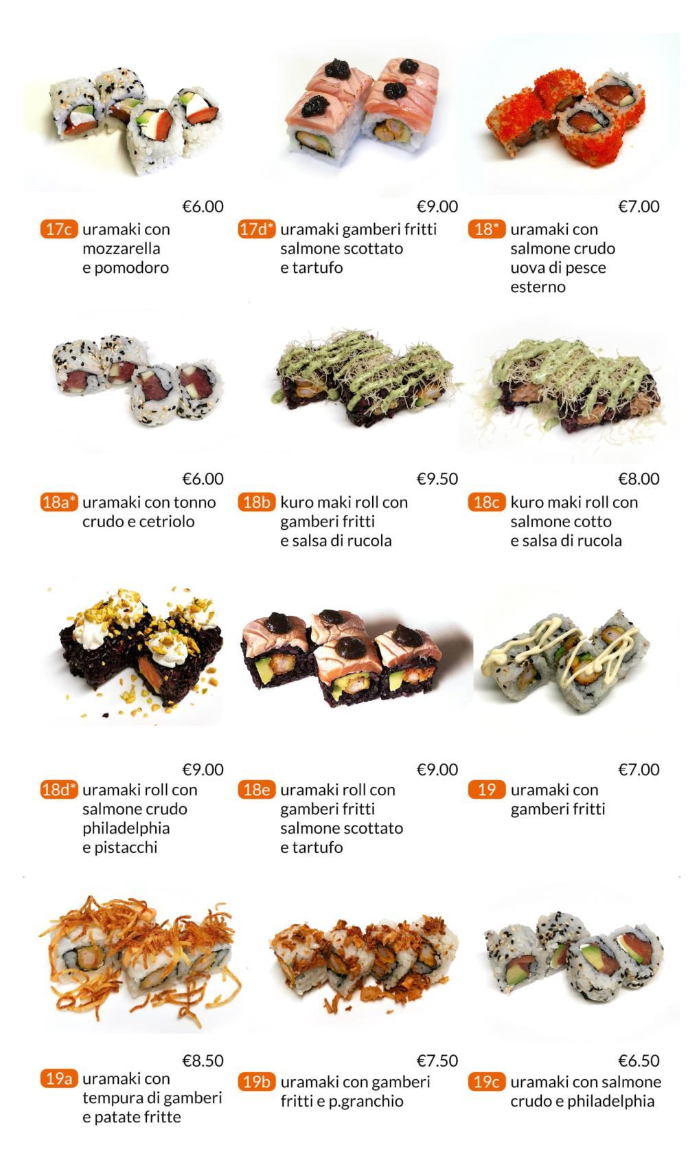 Proposte uramaki All you can eat Città di Castello Perugia Zen Sushi & Asian Cuisine