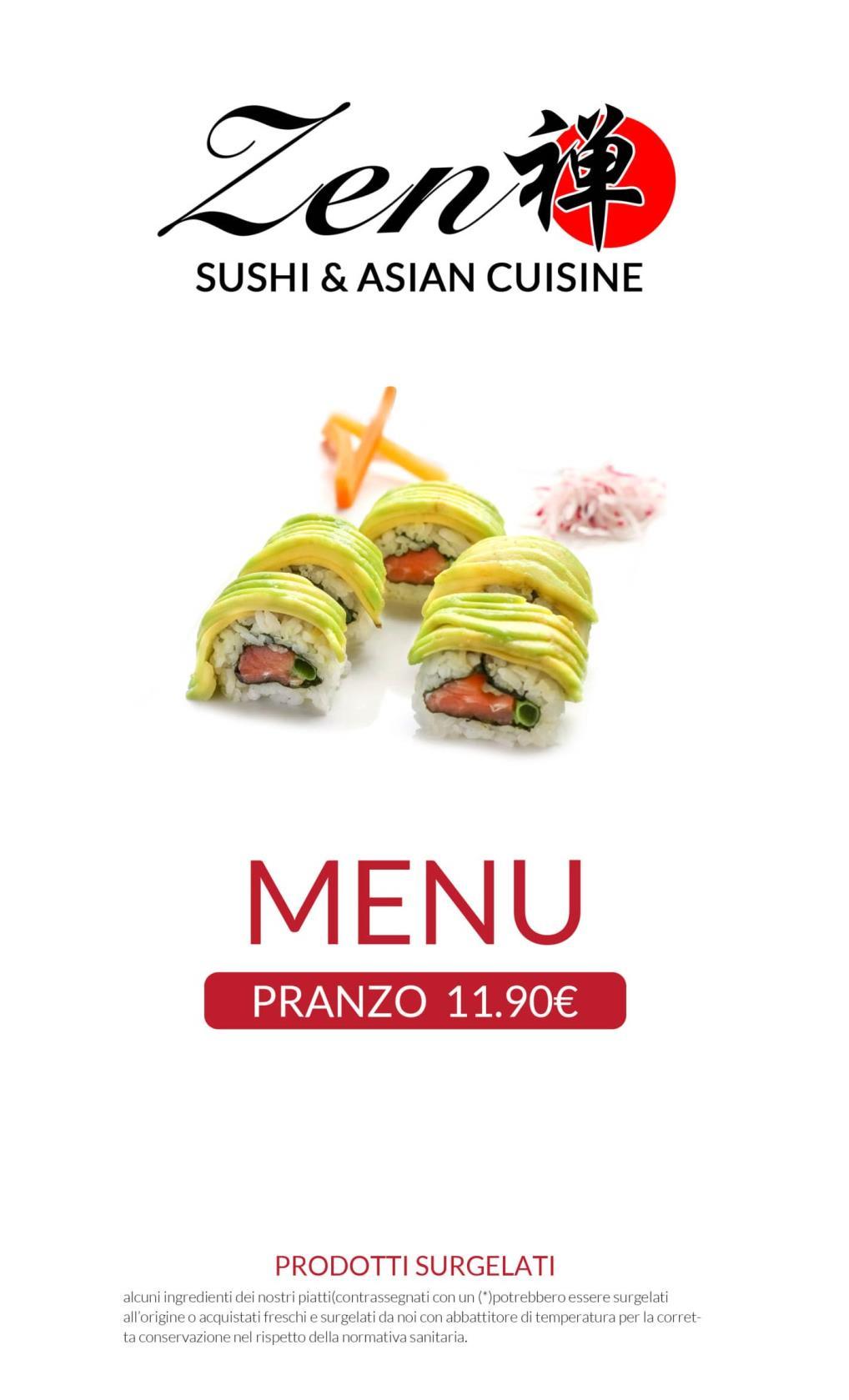 Menu pranzo All you can eat Città di Castello Perugia Zen Sushi & Asian Cuisine