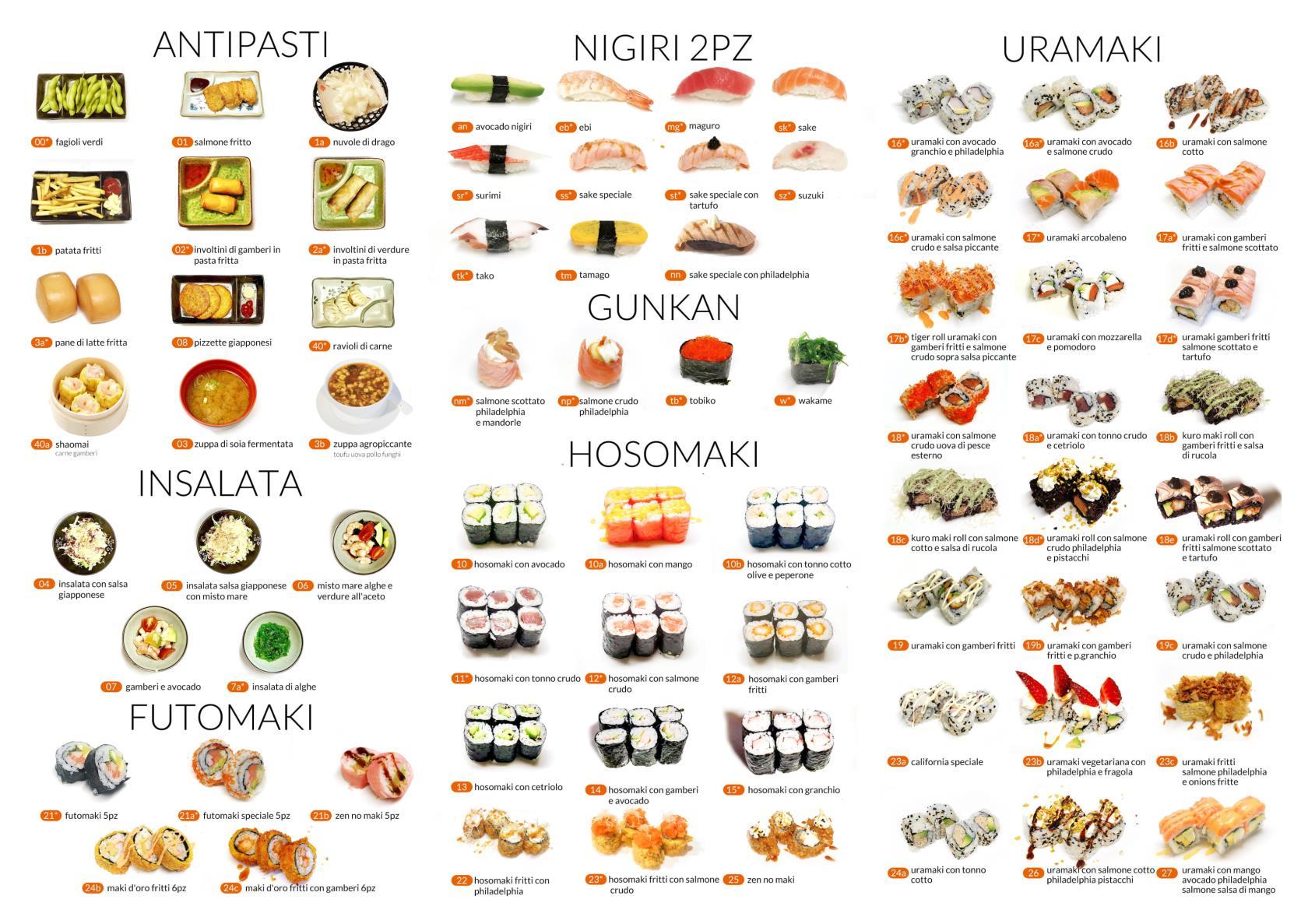 Piatti giapponesi pranzo All you can eat Città di Castello Perugia Zen Sushi & Asian Cuisine