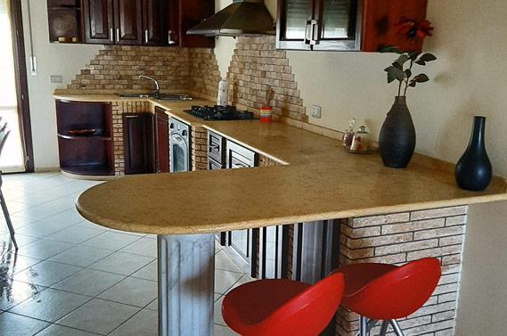 Cucine in muratura su misura Acqualagna Pesaro Urbino