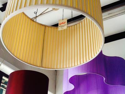 Paralume in tessuto plissettato Artigiano Enzo Mignocchi