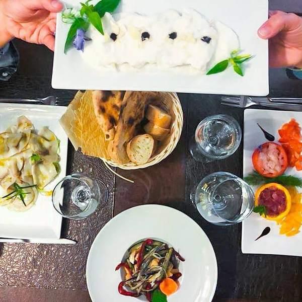 piatti di pesce e carne
