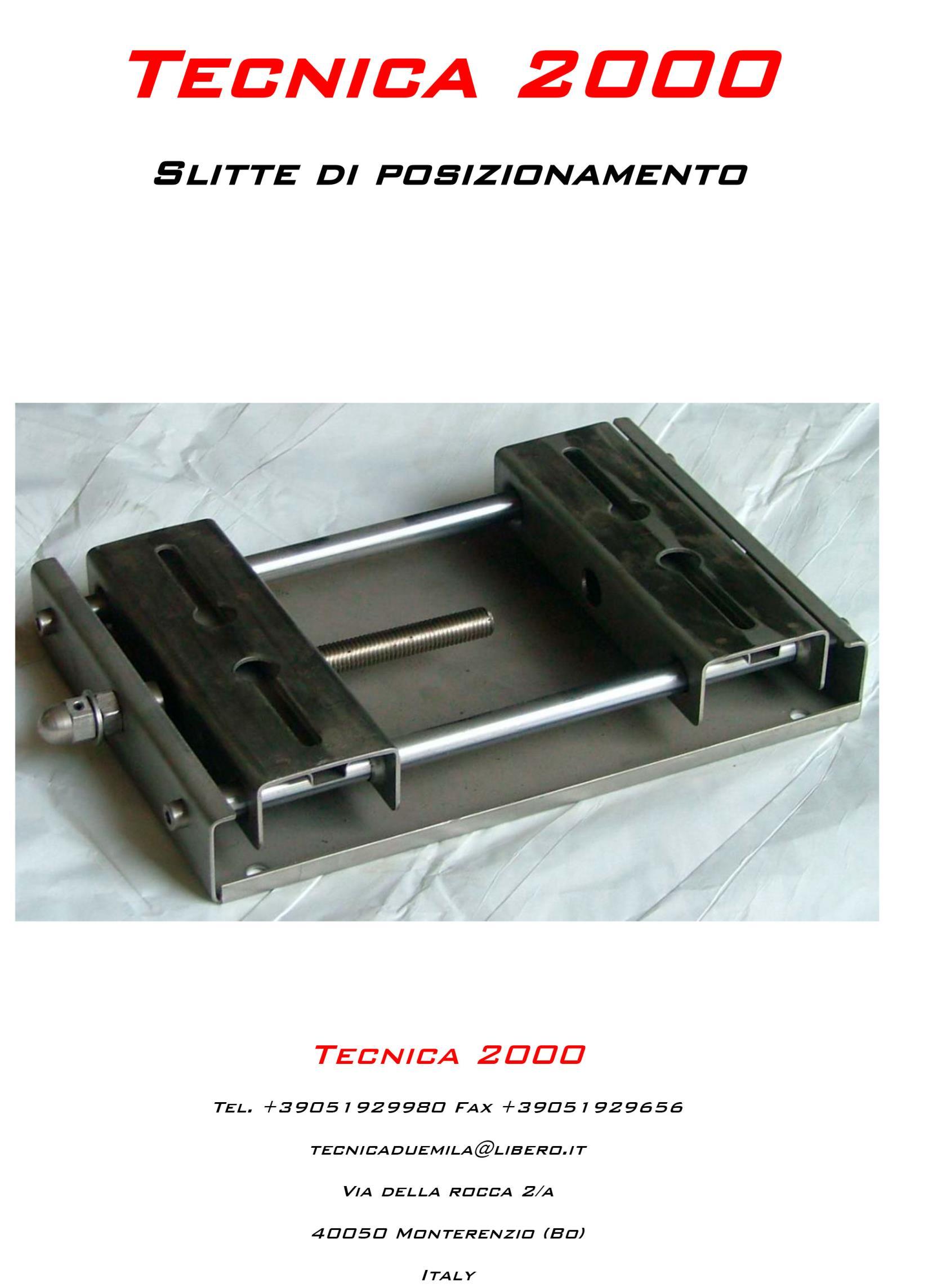 Catalogo Slitte per motori elettrici a Monterienzo