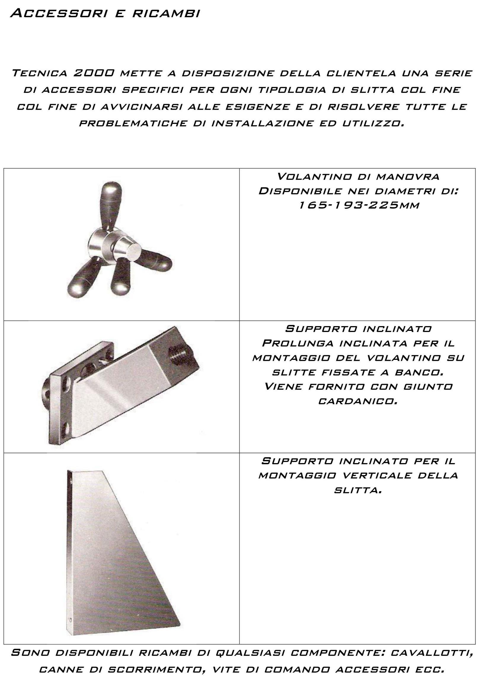 Accessori e ricambi per slitte