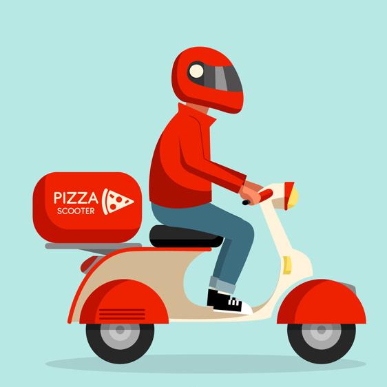 servizio d'asporto pizza marino