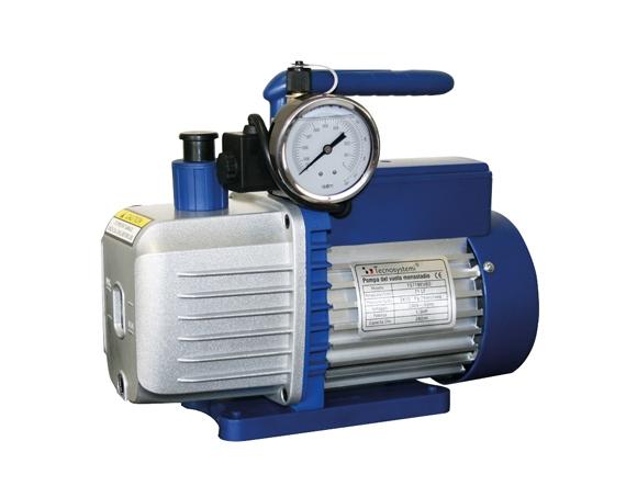 pompa del vuoto bistadio con elettrovalvola e vacuometro BEV per GAS R32