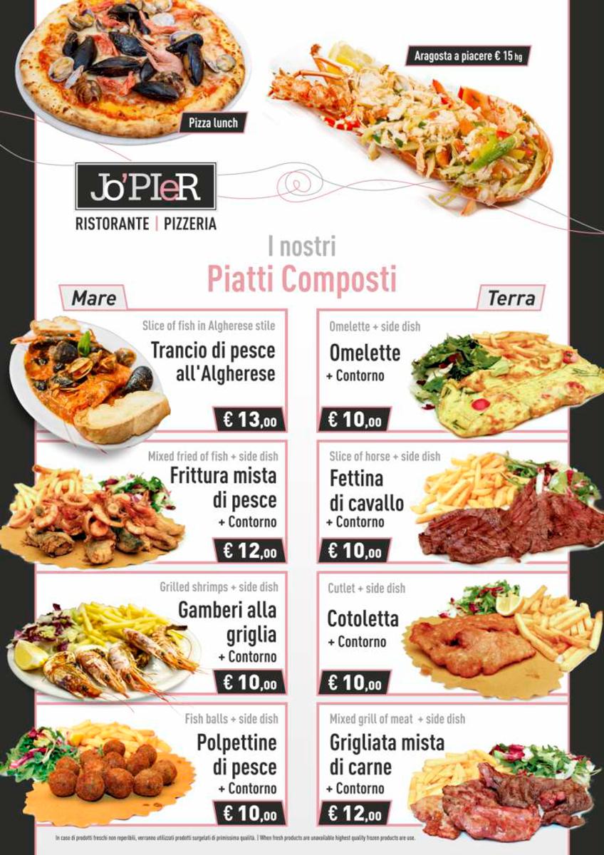 menu ristorante pizzeria jopier