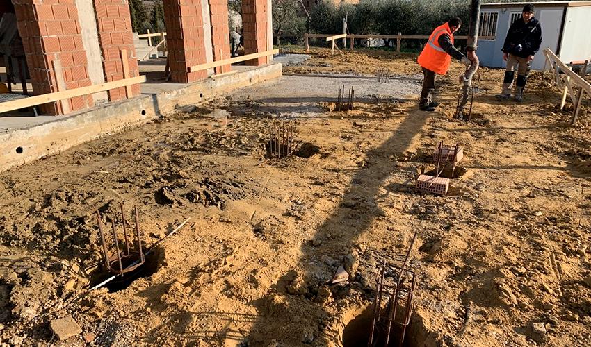 Realizzazione scavi per fondazioni a perugia
