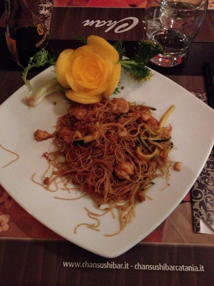 Noodles di soia con gamberi Chan Sushi Bar