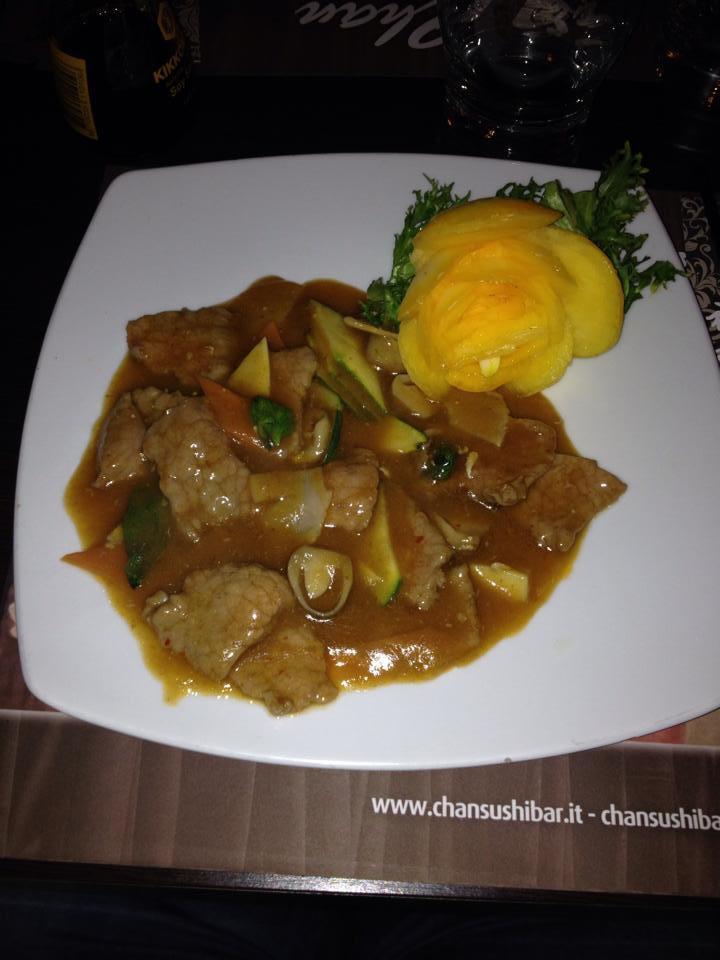 Piatti della cucina orientale Chan Sushi Bar