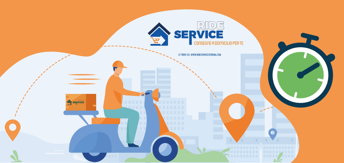 Consegne alimentari a domicilio Ride Service Delivery