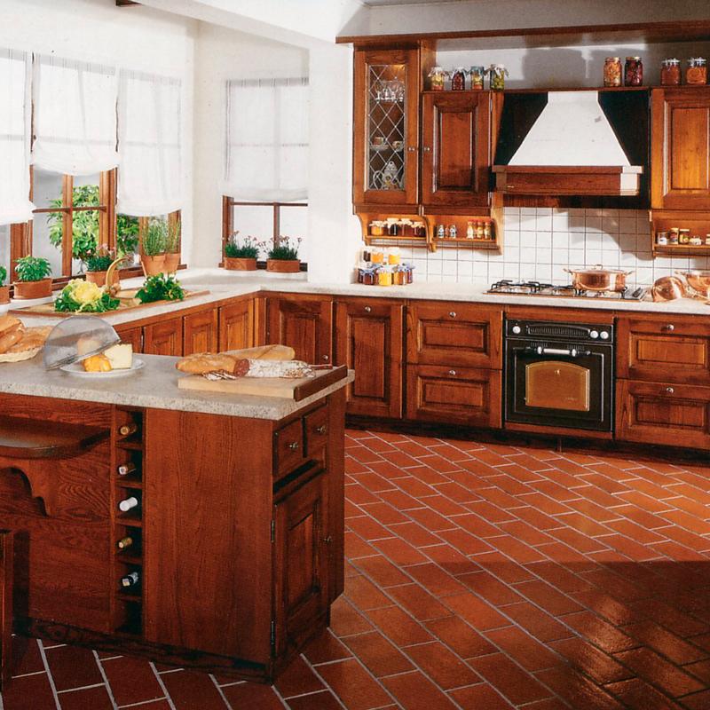 produzione cucine in legno massello