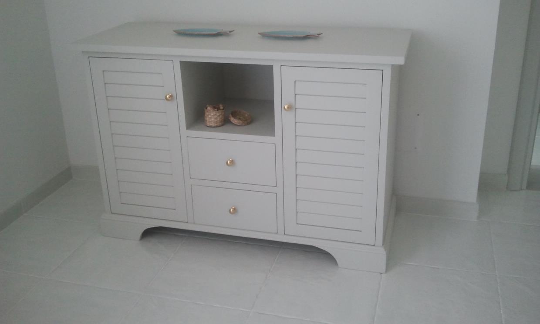Madia in legno bianca