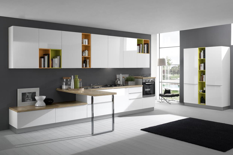 cucina moderna mia bianco lucido