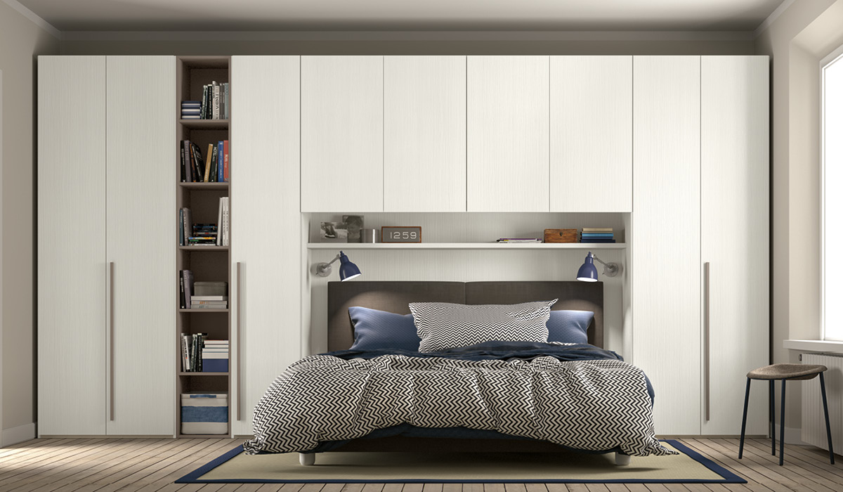 Camera da letto legno bianca