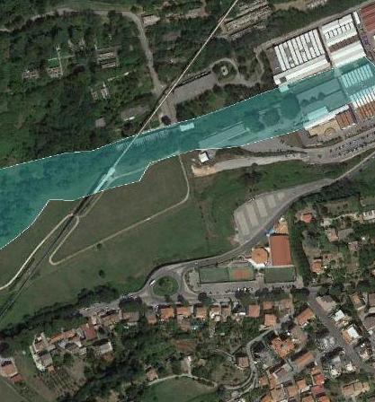 Verifica aree esondazione Fosso Gavozza - Colleferro