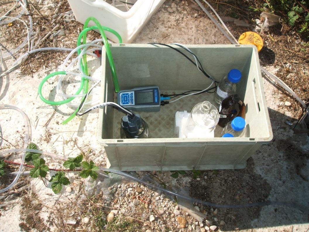 Campionamento acque con pompa a basso flusso e controllo dei parametri