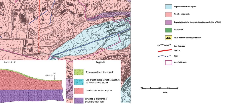 Stralcio Carta Geologica Comune Colleferro