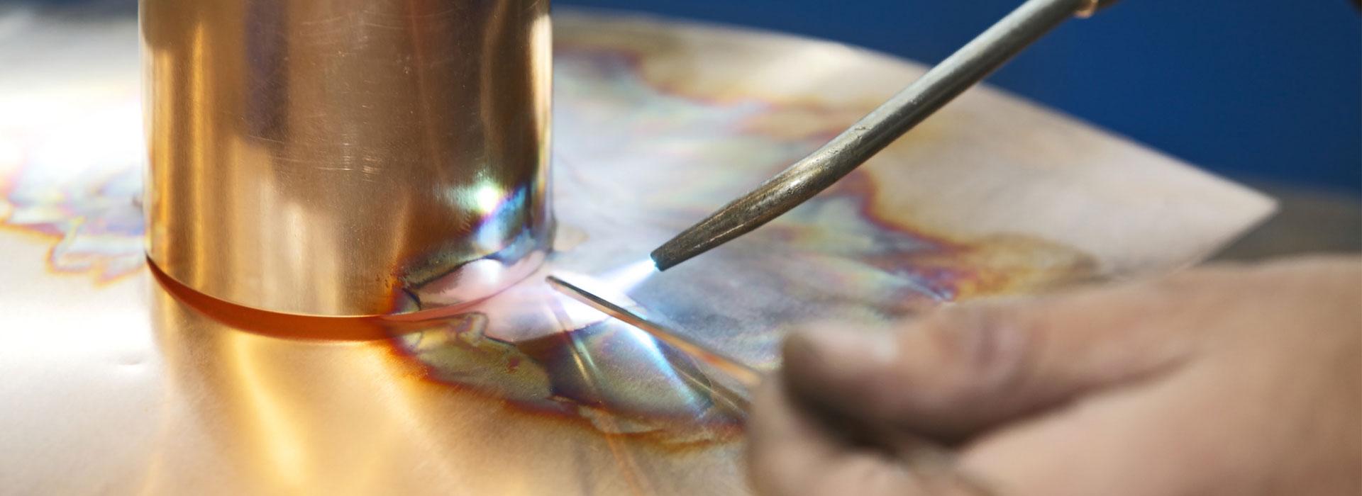 Saldatura su acciaio inox, ferro e alluminio