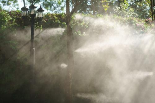 abbattimento polveri con nebulizzatore