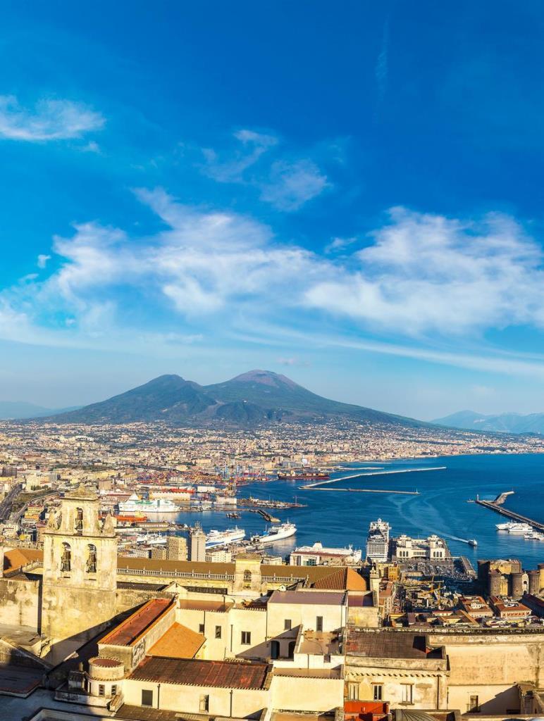 Veduta Vesuvio da Castel Sant'Elmo